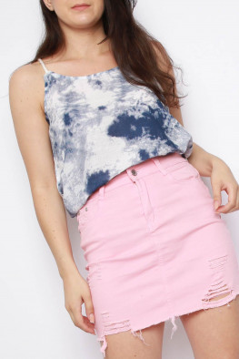 Rope Detail Tie Dye Top