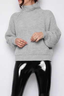 Balloon Sleeves Knitted Jumper
