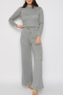 Top & Wide Leg Trousers Co-Ord Lounge Set