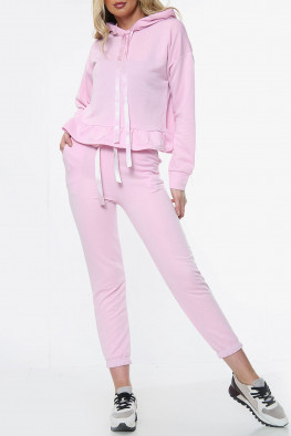 Frill Detail Hoodie and Jogger Lounge Set