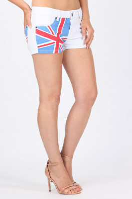 Union Jack Denim Hotpants
