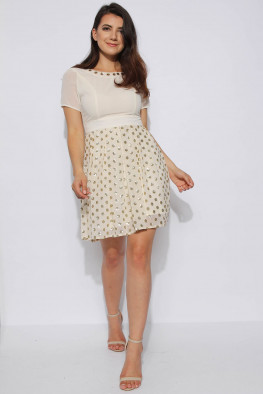 Polka Dot Sequin Skater Dress