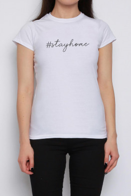Stay Home Slogan T-shirt