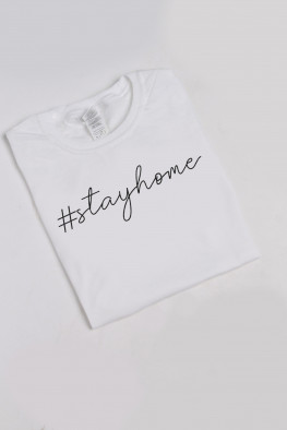 Stay Home Slogan Oversized T-shirt