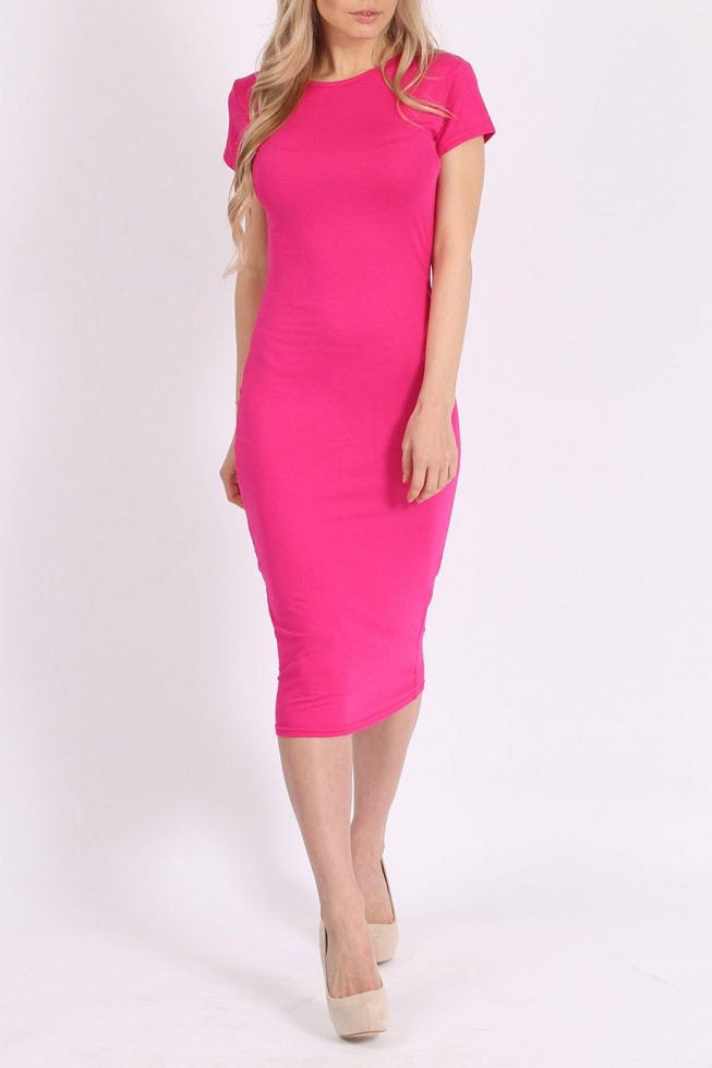 Basic Midi Bodycon Dress