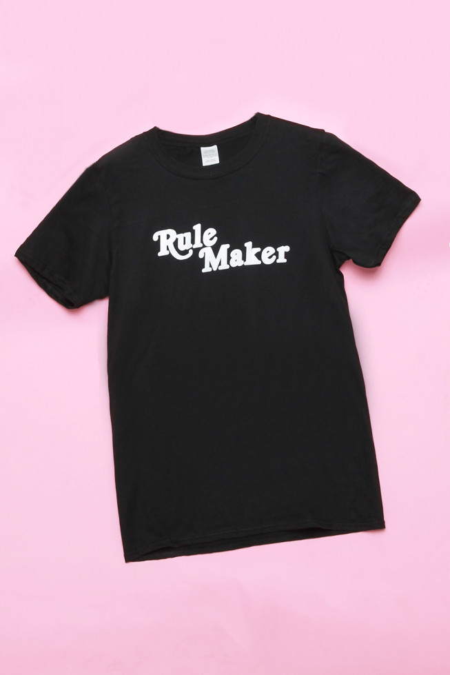 Rule Maker Oversized Slogan T-shirt