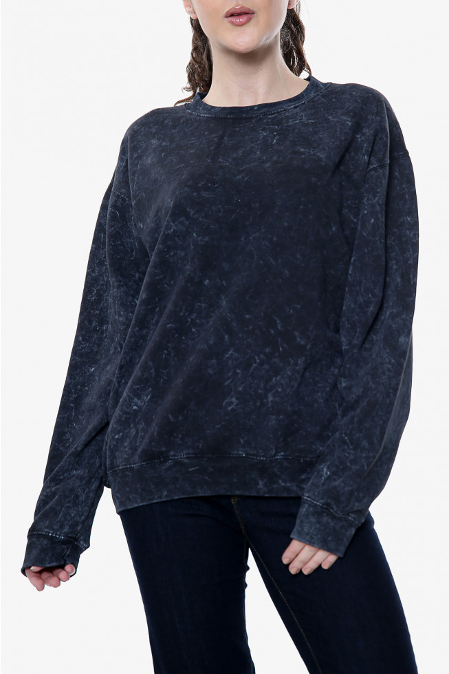 Acid Wash Oversized Sweatshirt