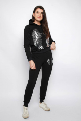 Sequin Wings Hoodie & Jogger Co-ord Lounge Set