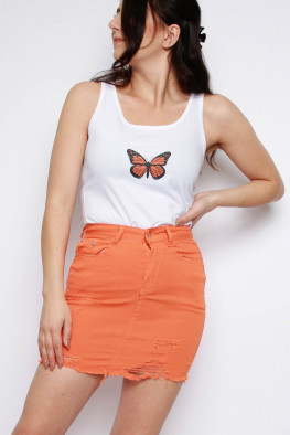 Butterfly Sleeveless Vest Top