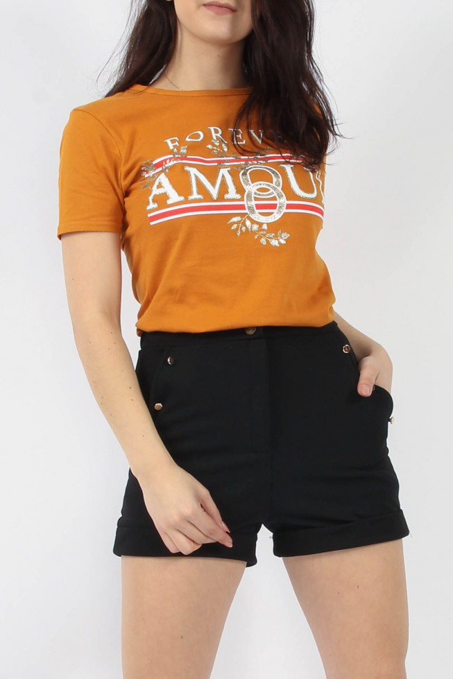 Forever Amour Printed T-shirt