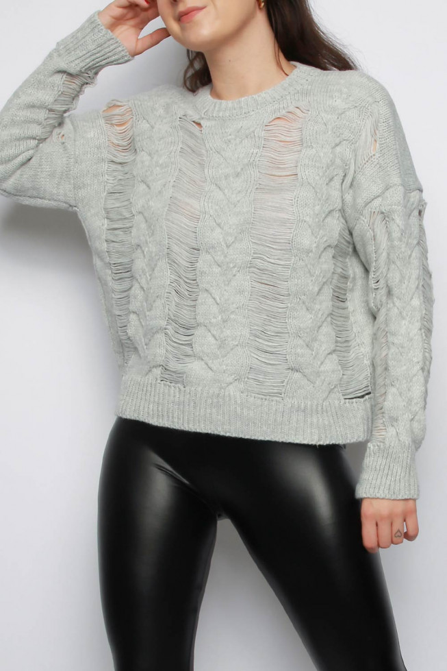 Distressed Knitted Jumper