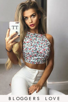 Ditsy Floral Cami Tie Back Cropped Top