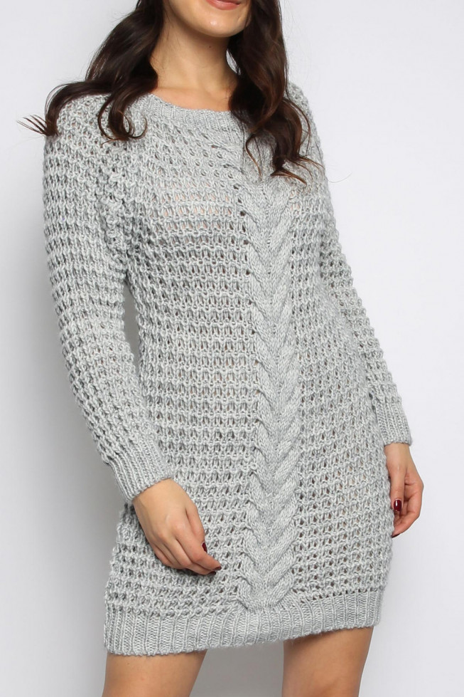 Chain Knitted Jumper Dress