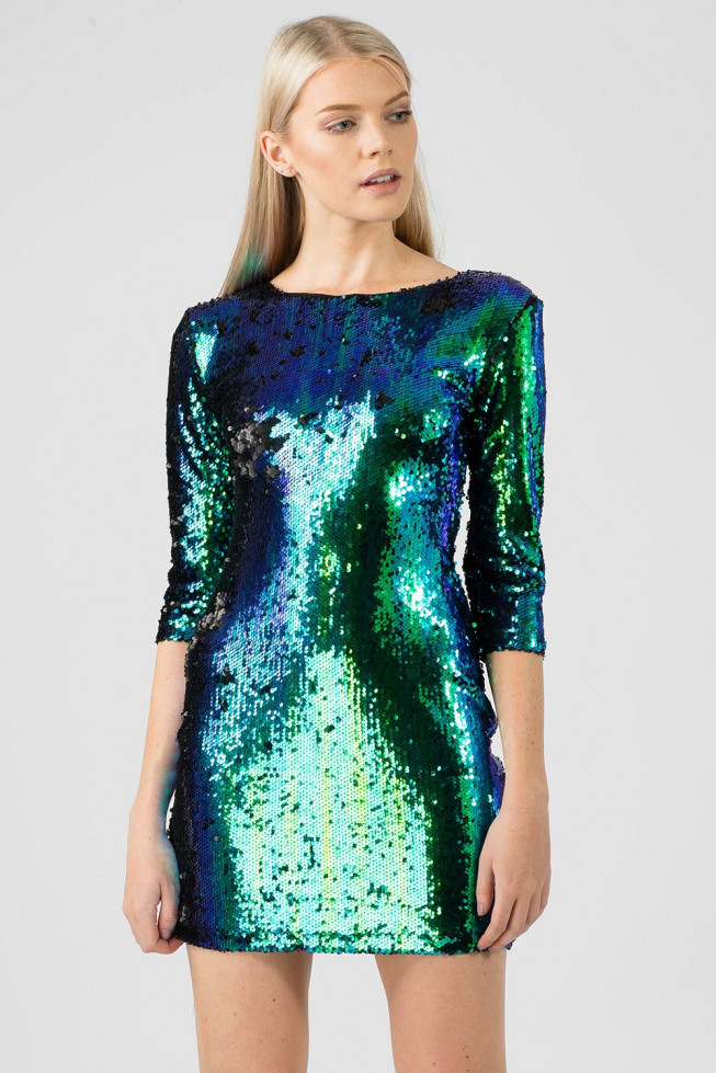 Two Tone Sequin Dress
