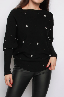 Pearl Lace Up Back Knitted Jumper
