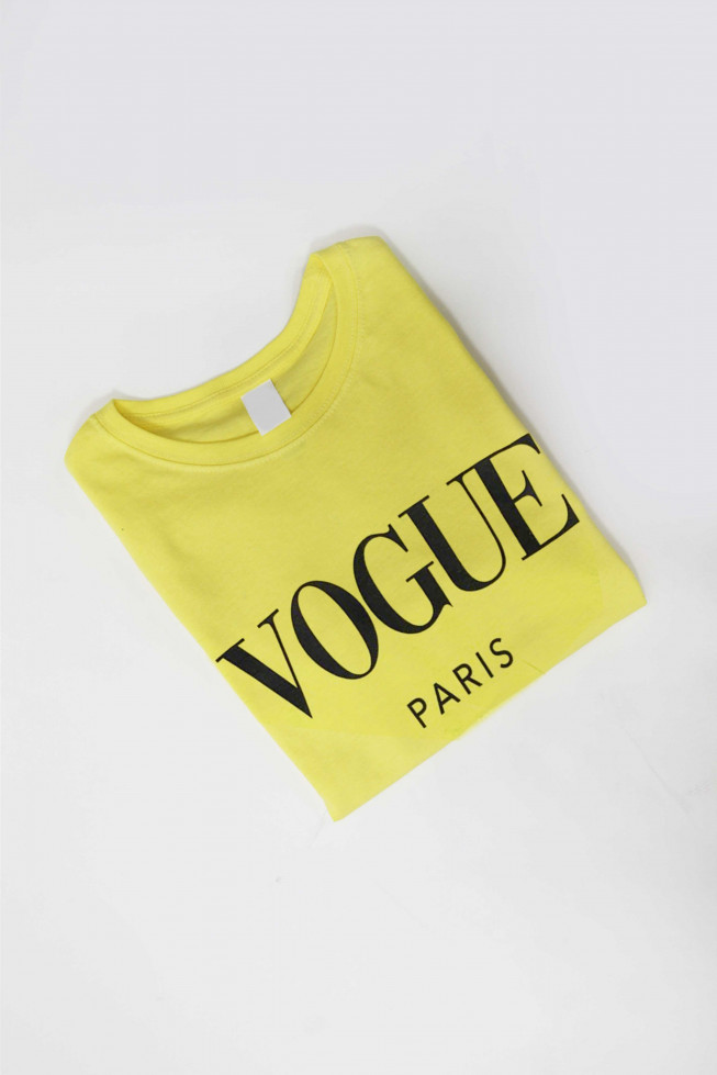 Vogue Paris Slogan T-shirt