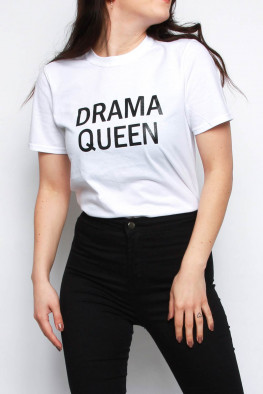 Drama Queen Oversized Slogan T-shirt