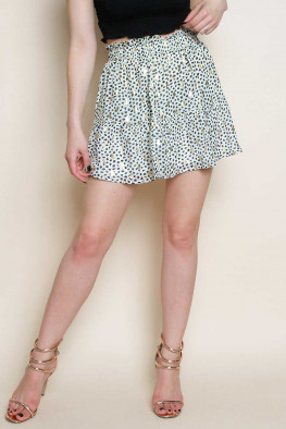 Printed Tiered High Waisted Skirt