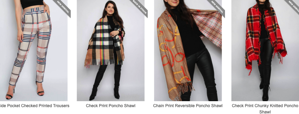 Checked Printed Trousers and Shawl