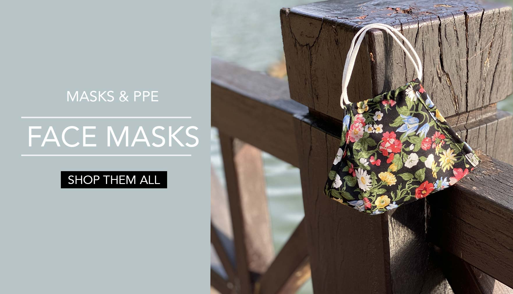 Surgical Style Floral Cotton Reusable Face Mask
