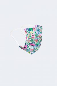 Pink Surgical Style Floral Cotton Reusable Face Mask